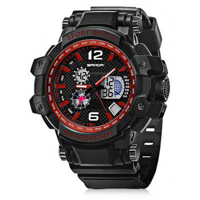 Sanda 729 5325 Multifunctional Pin Buckle Male Watch