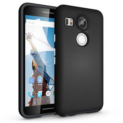 Non-slip Surface Shockproof Back PC Case for Google Nexus 5X
