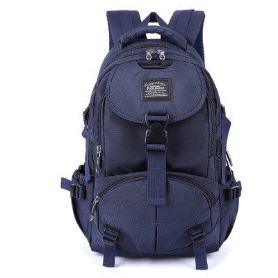 Buy BLUE Kaukko Men Trendy Outdoor Nylon Water-resistant Backpack for $39.87 in GearBest store