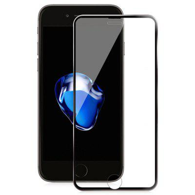 Hardness Titanium Alloy Frame3d Full Cover Arc Tempered Glass Protector for Iphone7/Iphone8