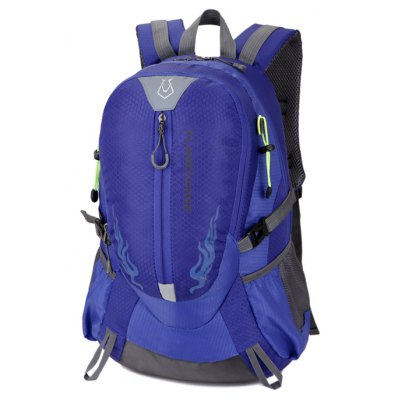 Men Outdoor Large Capacity Nylon Water-resistant Backpack- SAPPHIRE BLUE