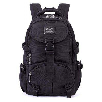 Buy BLACK Kaukko Men Trendy Outdoor Nylon Water-resistant Backpack for $39.87 in GearBest store