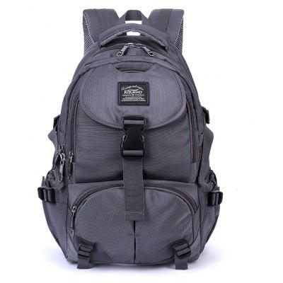 Buy GRAY Kaukko Men Trendy Outdoor Nylon Water-resistant Backpack for $39.87 in GearBest store
