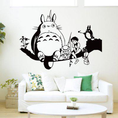 Cartoon Cat Pattern Kids Room Wall Sticker
