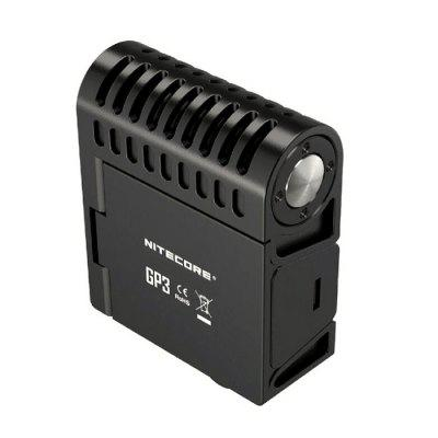 Nitecore GP3 CREE XP - G2 LED Action Camera LightLED Flashlights<br>Nitecore GP3 CREE XP - G2 LED Action Camera Light<br><br>Battery Included or Not: Yes<br>Battery Quantity: 1<br>Body Material: PC<br>Brand: Nitecore<br>Color Temperature: 5000K<br>Emitters: Cree XP-G2<br>Feature: Popular, Portable, Lightweight<br>Flashlight size: Mid size<br>Flashlight Type: Handheld<br>Function: Work<br>Light Modes: High,Low,Mid,Turbo,Ultra low<br>Luminous Flux: 360Lm<br>Package Contents: 1 x Action Camera Light ( Battery Included ), 1 x USB Cable, 1 x Fixed Bracket, 2 x Screw<br>Package size (L x W x H): 18.00 x 15.00 x 12.00 cm / 7.09 x 5.91 x 4.72 inches<br>Package weight: 0.2500 kg<br>Power Source: Battery<br>Product size (L x W x H): 8.58 x 5.75 x 2.54 cm / 3.38 x 2.26 x 1 inches<br>Product weight: 0.0820 kg