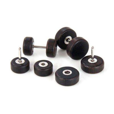 Stylish Wood Round Dumbbell Unisex Stud EarringsEarrings<br>Stylish Wood Round Dumbbell Unisex Stud Earrings<br><br>Package Contents: 1 x Pair of Earrings<br>Package size (L x W x H): 3.00 x 3.00 x 3.00 cm / 1.18 x 1.18 x 1.18 inches<br>Package weight: 0.0250 kg<br>Product weight: 0.0050 kg<br>Style: Fashion<br>Type: Earrings