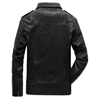 JOOBOX Stand Collar PU Leather Plus Size Jacket CoatMens Jackets &amp; Coats<br>JOOBOX Stand Collar PU Leather Plus Size Jacket Coat<br><br>Brand: JOOBOX<br>Closure Type: Zipper<br>Clothes Type: Leather Jacket<br>Collar: Stand Collar<br>Embellishment: Zippers<br>Materials: Cotton, Polyester, PU<br>Occasion: Daily Use<br>Package Content: 1 x Leather Jacket<br>Package Dimension: 30.00 x 20.00 x 5.00 cm / 11.81 x 7.87 x 1.97 inches<br>Package weight: 1.4000 kg<br>Pattern Type: Solid<br>Product weight: 1.2000 kg<br>Seasons: Winter<br>Shirt Length: Regular<br>Sleeve Length: Long Sleeves<br>Style: Fashion<br>Thickness: Thickening