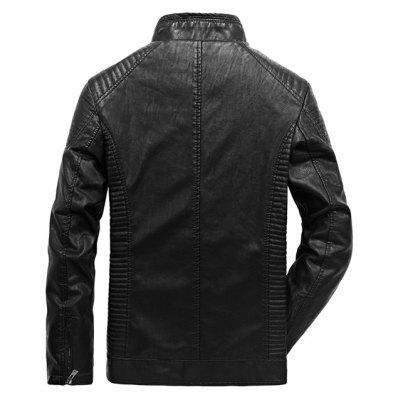 JOOBOX Fashion PU Leather Plus Size Jacket CoatMens Jackets &amp; Coats<br>JOOBOX Fashion PU Leather Plus Size Jacket Coat<br><br>Brand: JOOBOX<br>Closure Type: Zipper<br>Clothes Type: Leather Jacket<br>Collar: Stand Collar<br>Embellishment: Others<br>Materials: Cotton, Polyester, PU<br>Occasion: Daily Use<br>Package Content: 1 x Leather Jacket<br>Package Dimension: 30.00 x 20.00 x 5.00 cm / 11.81 x 7.87 x 1.97 inches<br>Package weight: 1.4000 kg<br>Pattern Type: Solid<br>Product weight: 1.2000 kg<br>Seasons: Winter<br>Shirt Length: Regular<br>Sleeve Length: Long Sleeves<br>Style: Fashion<br>Thickness: Thickening