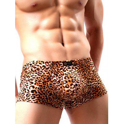 HYD1349 Sexy Male Antibiosis Wild Leopard Print Boxers
