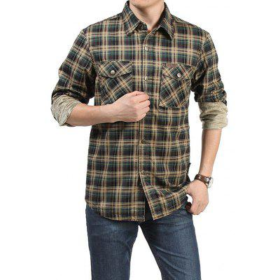 Jeep Rich Men Casual Plus Size Checked Shirt