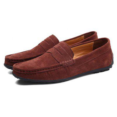 Buy DEEP BROWN 44 Male Fresh Soft Thin Light Casual Lofer Oxford Shoes for $31.99 in GearBest store