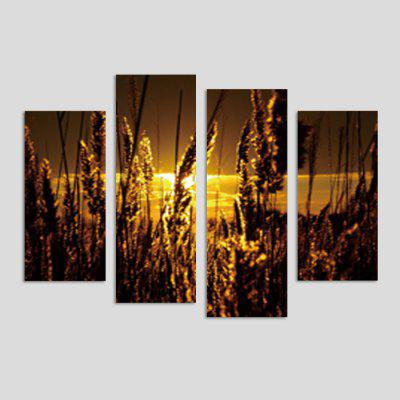 God Painting Wheat Printed Painting Canvas Print 4PCS