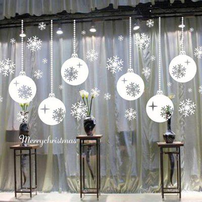 618 Christmas Snowflake Lights Shape Wall Sticker