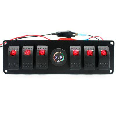 IZTOSS S2778 - Z 6-gang Switch Panel Push-button Switch