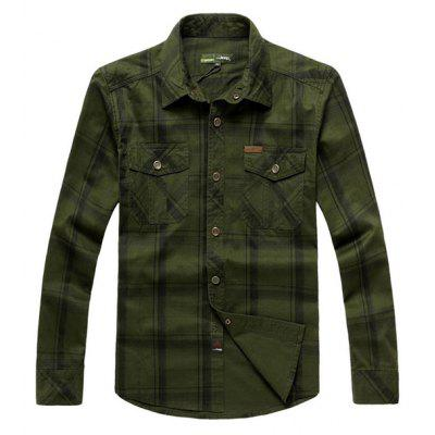 Jeep Rich Plus Size Cotton Checked Shirt
