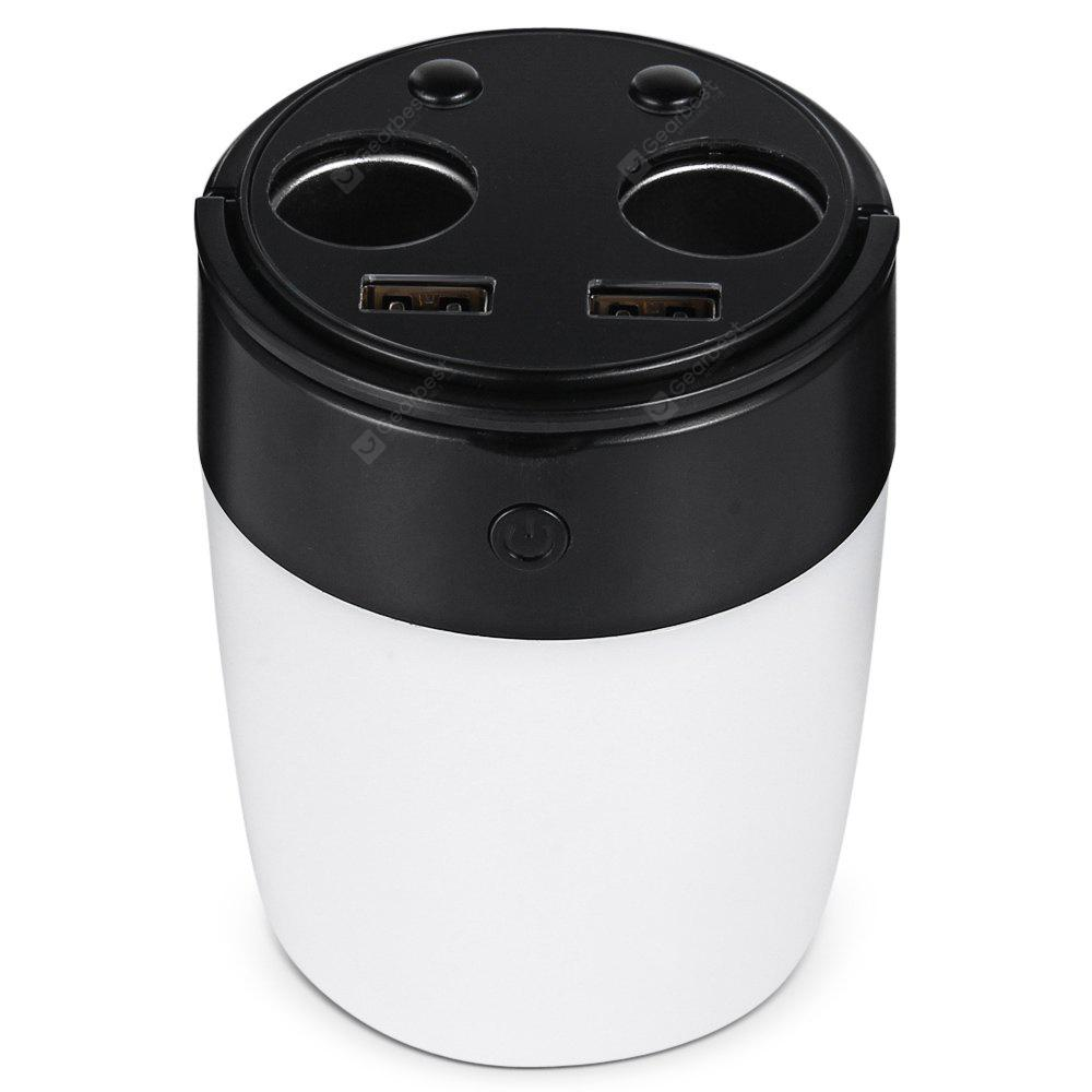 USMEI B1 Car Cup Holder USB Charger