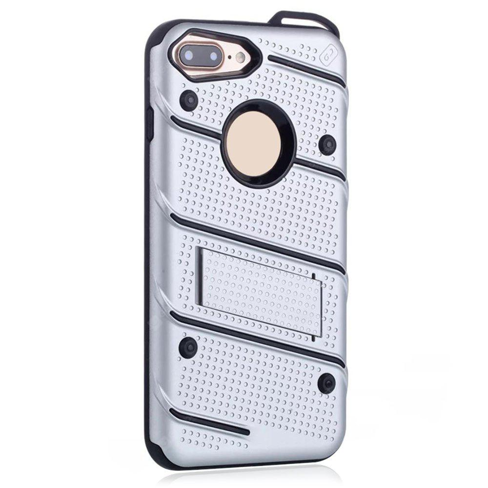 Wkae Ultra Thin Dual Layer Shockproof TPU Back Cover Case with Kickstand for iPhone 7 Plus / 8 Plus