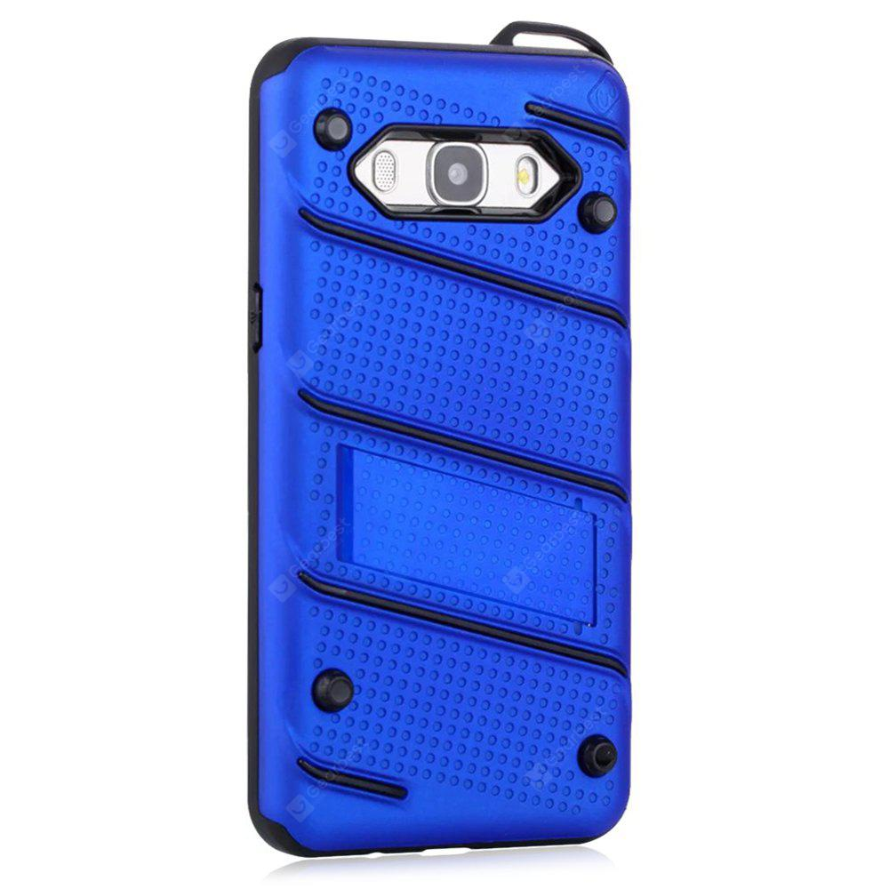 Wkae Ultra Thin Dual Layer Shockproof TPU Back Cover Case with Kickstand for Samsung Galaxy J5 2016