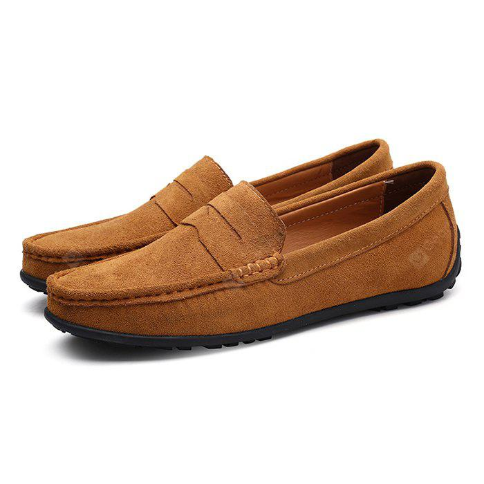 LIGHT BROWN 44 Male Fresh Soft Thin Light Casual Lofer Oxford Shoes