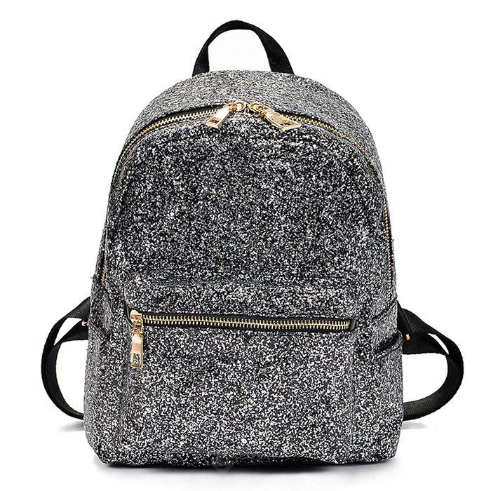 Woman Fashion Contracted Paillette Backpack