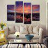 God Painting Sunset Sea Printed Painting Canvas Print 4PCS - COLORMIX