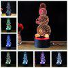 M.Sparkling TD204 Creative Christmas Snowman Night Lamp - COLORFUL