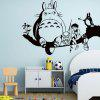Cartoon Cat Pattern Kids Room Wall Sticker - BLACK