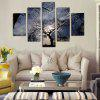 God Painting Tree Printed Painting Canvas Print 5PCS - COLORMIX