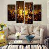 God Painting Wheat Printed Painting Canvas Print 4PCS - COLORMIX