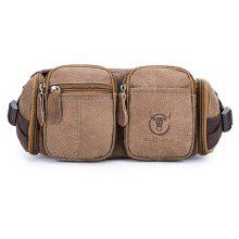 BULLCAPTAIN Genuine Leather Water-resistant Waist Bag