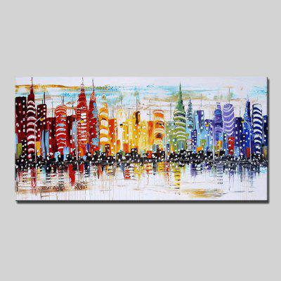 Mintura Modern Oil Painting Unframed New York Wall Art