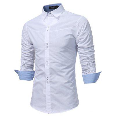 WSGYJ 1600 - 7680 Trendy Long Sleeve Slim Men Shirt