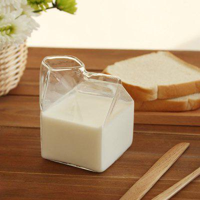Glass House Shape Milk Juice Cup
