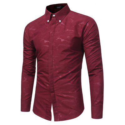 WSGYJ 1600 - 7684 Trendy Long Sleeve Slim Men Shirt