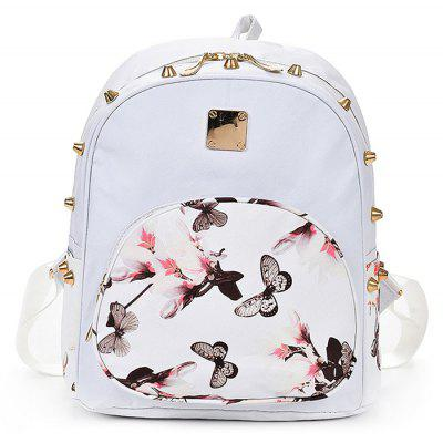 Woman Stylish Recreation Rivet Backpack