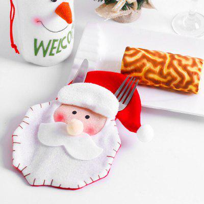 Christmas Decorative Tableware Knife Fork Set Cover