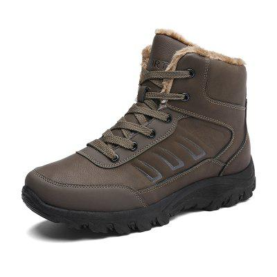 Male Warmest Thicken Soft Non-slip High Padded BootsMens Boots<br>Male Warmest Thicken Soft Non-slip High Padded Boots<br><br>Closure Type: Lace-Up<br>Contents: 1 x Pair of Shoes, 1 x Box, 1 x Dustproof Paper<br>Function: Slip Resistant<br>Materials: Leather, Rubber<br>Occasion: Riding, Running, Shopping, Sports, Rainy Day, Party, Casual, Daily, Holiday, Office, Outdoor Clothing<br>Outsole Material: Rubber<br>Package Size ( L x W x H ): 33.00 x 22.00 x 11.00 cm / 12.99 x 8.66 x 4.33 inches<br>Package Weights: 1.05kg<br>Pattern Type: Solid<br>Seasons: Autumn,Winter<br>Style: Modern, Leisure, Fashion, Comfortable, Casual<br>Toe Shape: Round Toe<br>Type: Boots<br>Upper Material: Leather