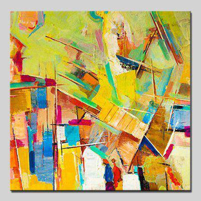 Mintura Square Oil Painting Abstract Style Canvas Wall Art