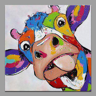 Mintura Hanging Oil Painting Canvas Cattle Square Wall Art