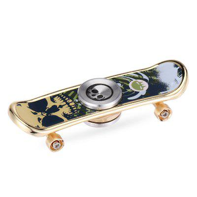Novelty Skull Head Skateboard Design Fidget Spinner Gyro Toy