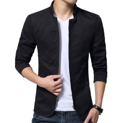 Stylish Stand Collar Jacket