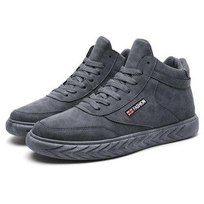 Male British Soft Thicken Ankle Top Skateboarding Sneakers