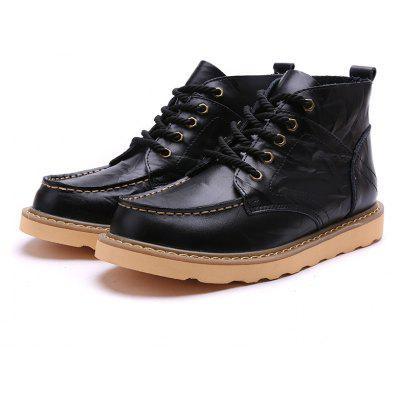 Male Trendy Exquisite Grained High-top Casual Martin Boots