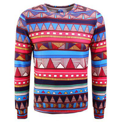 Vintage Colorful 3D Printing Plus Size Sweatshirt