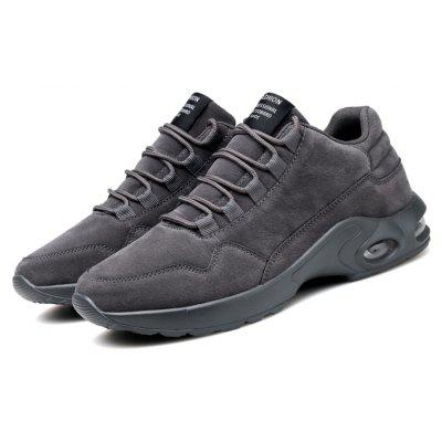 Male Soft Lightweight Air Cushion Casual Leather Sneakers