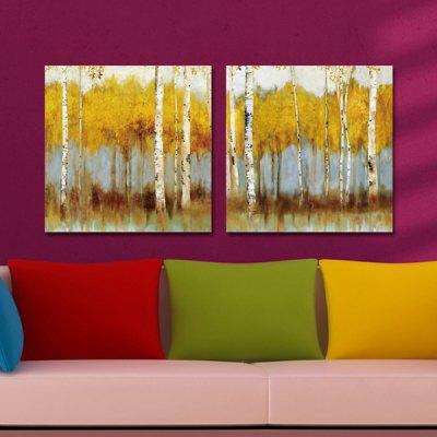DYC Yellow Tree Motif Giclee Print Framed Canvas Painting 2PCSPrints<br>DYC Yellow Tree Motif Giclee Print Framed Canvas Painting 2PCS<br><br>Brand: DYC<br>Craft: Print<br>Form: Two Panels<br>Material: Canvas<br>Package Contents: 2 x Print<br>Package size (L x W x H): 34.00 x 34.00 x 6.00 cm / 13.39 x 13.39 x 2.36 inches<br>Package weight: 0.9000 kg<br>Painting: Include Inner Frame<br>Product weight: 0.5000 kg<br>Shape: Square<br>Style: Beautiful, Waterproof, Modern<br>Subjects: Botanical<br>Suitable Space: Bedroom,Cafes,Dining Room,Hallway,Hotel,Kids Room,Living Room,Study Room / Office