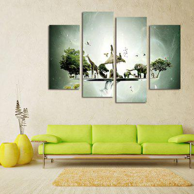 God Painting Animals Printed Painting Canvas Print 4PCSPrints<br>God Painting Animals Printed Painting Canvas Print 4PCS<br><br>Brand: God Painting<br>Craft: Print<br>Form: Four Panels<br>Material: Canvas<br>Package Contents: 4 x Print<br>Package size (L x W x H): 42.00 x 6.00 x 6.00 cm / 16.54 x 2.36 x 2.36 inches<br>Package weight: 0.3800 kg<br>Painting: Without Inner Frame<br>Product weight: 0.3400 kg<br>Shape: Vertical<br>Style: Animal<br>Subjects: Animal<br>Suitable Space: Bedroom,Cafes,Living Room,Pathway