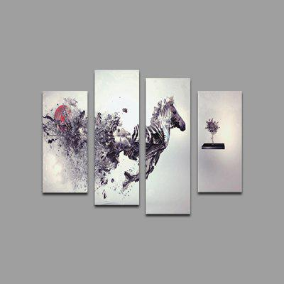 God Painting Horse Printed Painting Canvas Print 4PCS