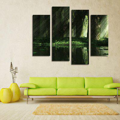 God Painting Sunshine Green Water Printed Painting 4PCSPrints<br>God Painting Sunshine Green Water Printed Painting 4PCS<br><br>Brand: God Painting<br>Craft: Print<br>Form: Four Panels<br>Material: Canvas<br>Package Contents: 4 x Print<br>Package size (L x W x H): 42.00 x 6.00 x 6.00 cm / 16.54 x 2.36 x 2.36 inches<br>Package weight: 0.3800 kg<br>Painting: Without Inner Frame<br>Product weight: 0.3400 kg<br>Shape: Vertical<br>Style: Scenery / Landscape<br>Subjects: Still Life<br>Suitable Space: Bedroom,Girls Room,Hallway