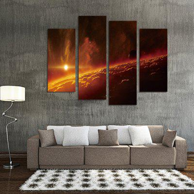 God Painting Sunshine Printed Painting Canvas Print 4PCSPrints<br>God Painting Sunshine Printed Painting Canvas Print 4PCS<br><br>Brand: God Painting<br>Craft: Print<br>Form: Four Panels<br>Material: Canvas<br>Package Contents: 4 x Print<br>Package size (L x W x H): 42.00 x 6.00 x 6.00 cm / 16.54 x 2.36 x 2.36 inches<br>Package weight: 0.3800 kg<br>Painting: Without Inner Frame<br>Product weight: 0.3400 kg<br>Shape: Vertical<br>Style: Scenery / Landscape<br>Subjects: Landscape<br>Suitable Space: Bedroom,Hallway,Living Room,Pathway